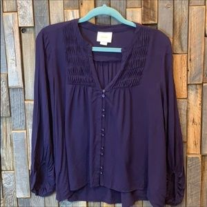 Woman's shirt top blouse Maeve Anthropologie 8